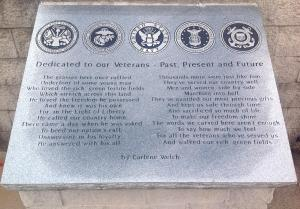 Veterans park poem photo