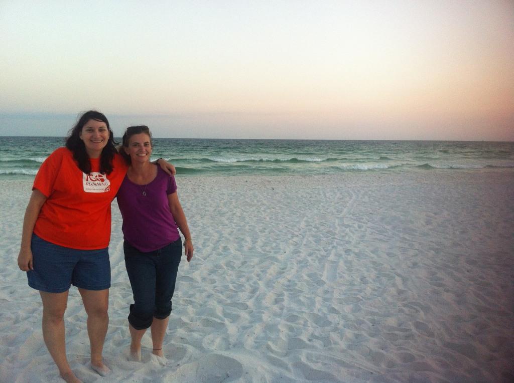 cari and alisa on the beach